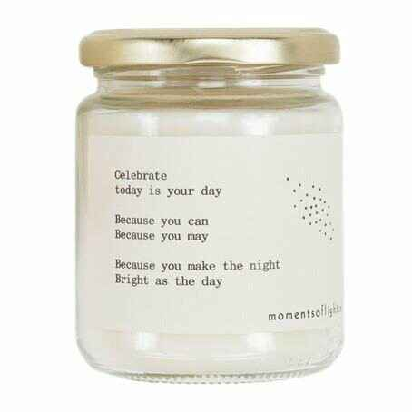 MOMENTS of light - 'Moments of Celebration' Scented Candle