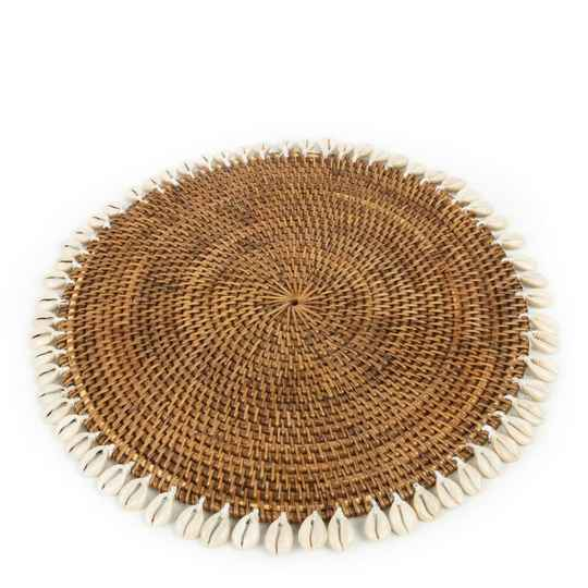 Bazar Bizar - The Colonial Shell Placemat - Natural Brown