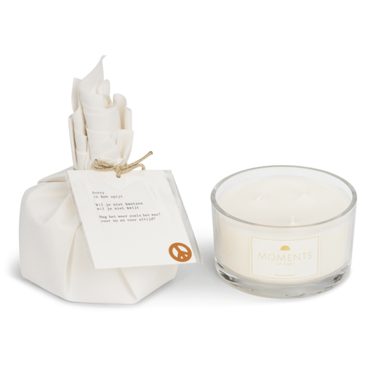 MOMENTS of light - Big gift wrapped Candle Moments ' I'm Sorry '
