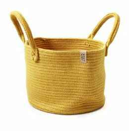 SIZO Planter and storage Basket Mustard