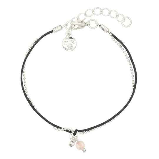 Armband Little Charms - Black - zilver