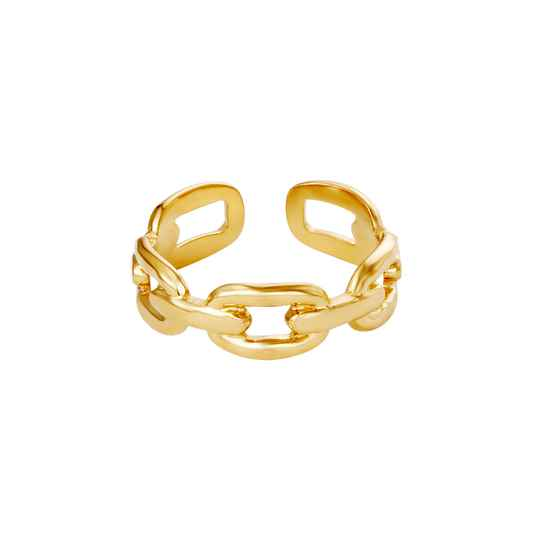 Ring Oval Chain goud
