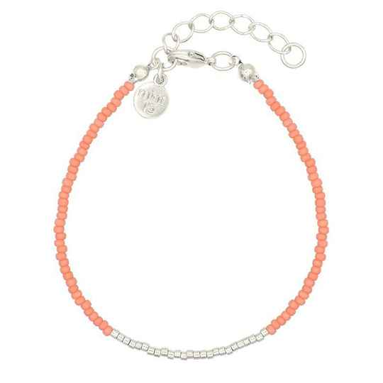 Armband Simply Chique - Dark Salmon - zilver