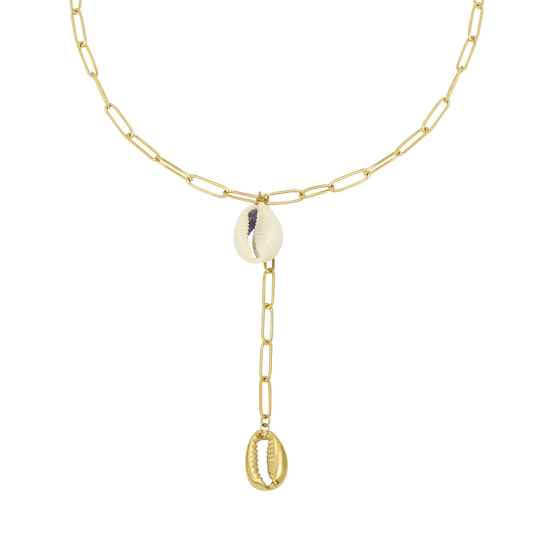 Ketting Chained Shells goud