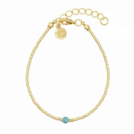 Armband Simply Delicate - Turquoise - goud
