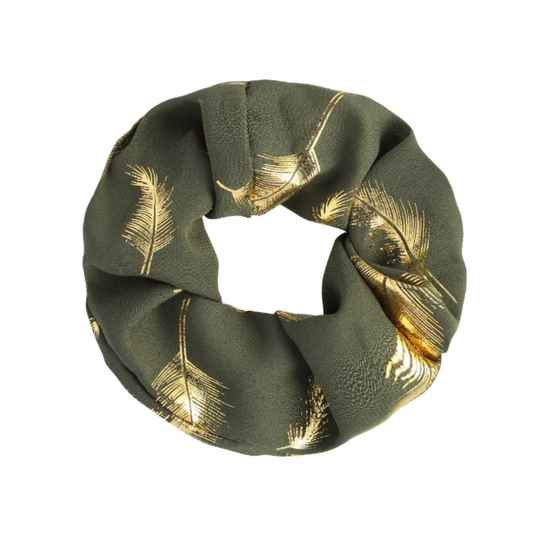 Scrunchie Feather gold
