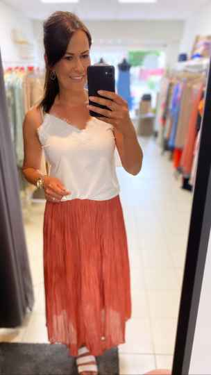 Bicco lace top white
