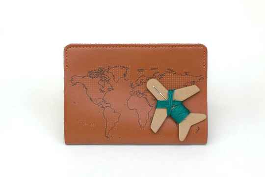 Chasing Threads - Stitch Pasport Cover - Brown
