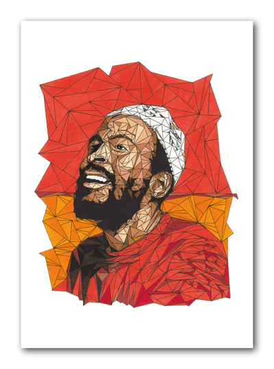 Marvin Gaye A4 297x210mm