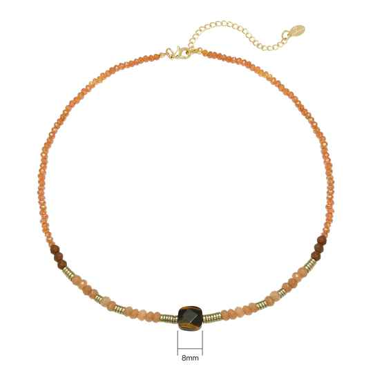 Ketting Natural Beauty - Lichtroze