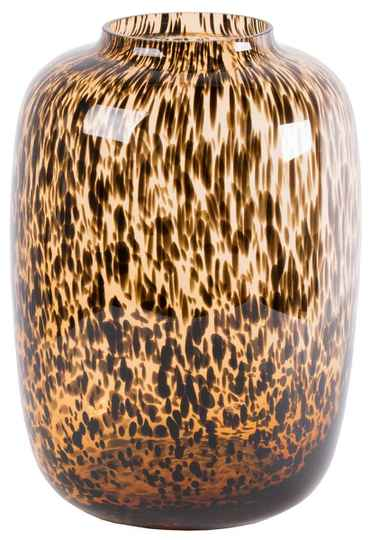 Vase | Bulb Leopard Brown