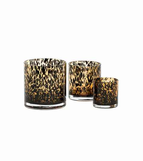 Tea Light Holder | Leopard Brown
