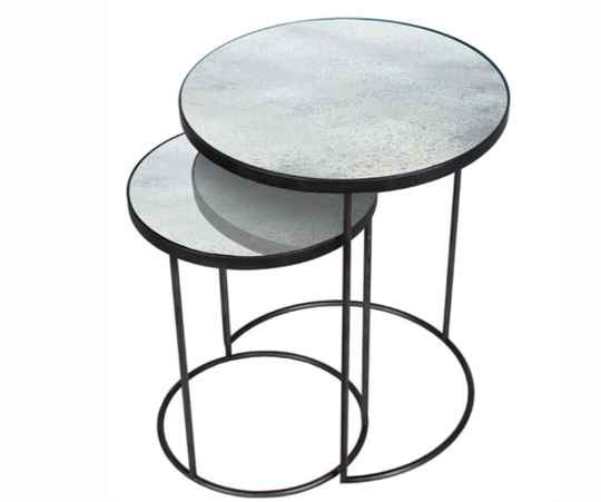 Clear  side table set 20723