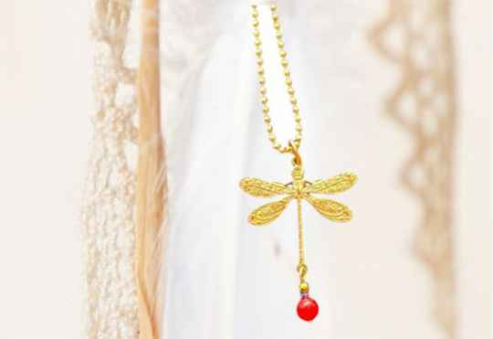 Ketting Dragonfly   Red