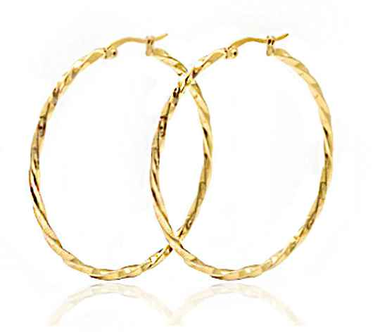 Twisted hoops  50 mm