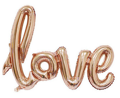 Folie Ballon LOVE Rose Gold