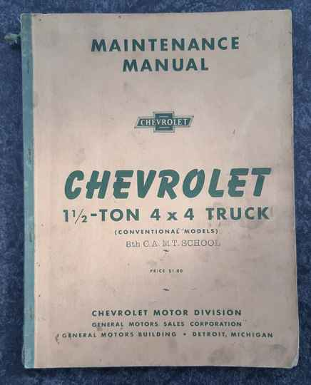 Chevrolet 1 1/2 ton 4x4 truck First Edition Early model with cilvilian dashboard