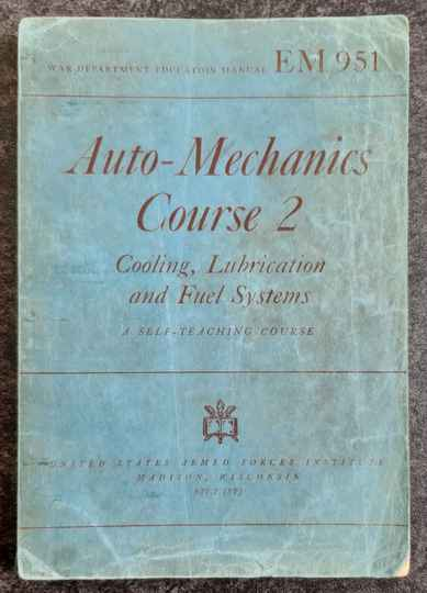 EM951 Auto-mechanics course 2. Cooling, Lubrication and fuel Systems