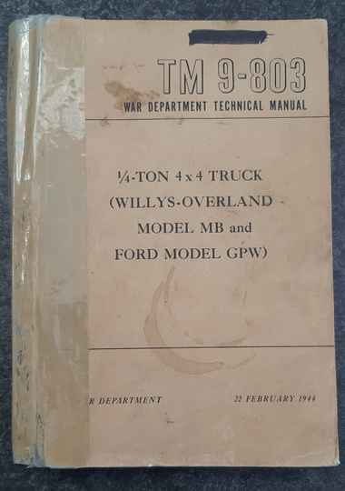 TM9-803 4x4 truck Willys Overland MB and Ford GPW