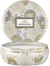 Nissho Soleil 3 wick Candle In deco Tin