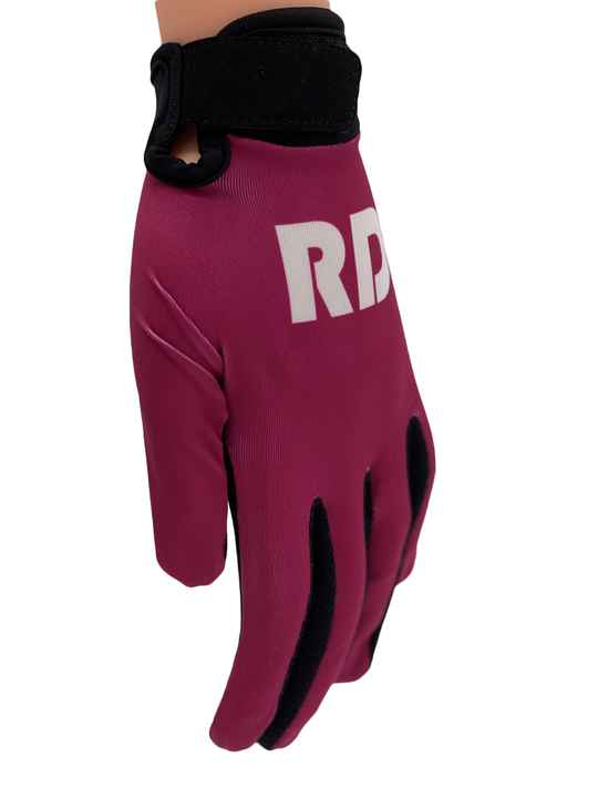 RD Gloves Bordeaux rood