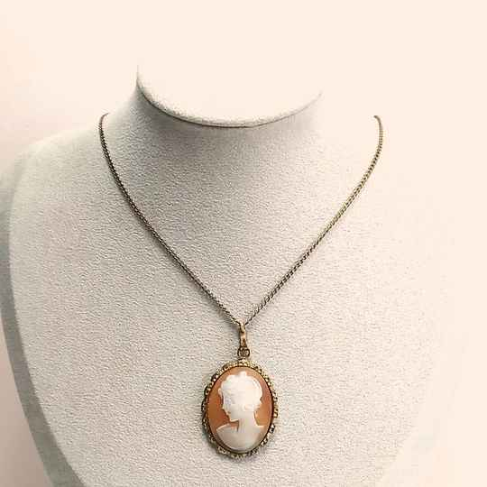 Doublé camee ketting 50s