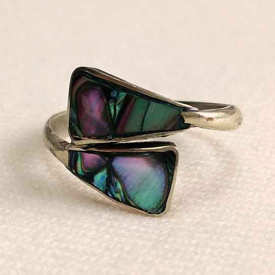 Alpaca abalone ring 70s - one size