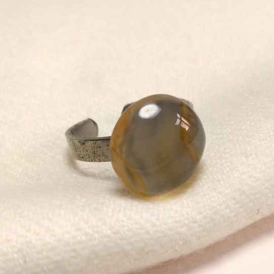 Agaat edelsteen ring 70s