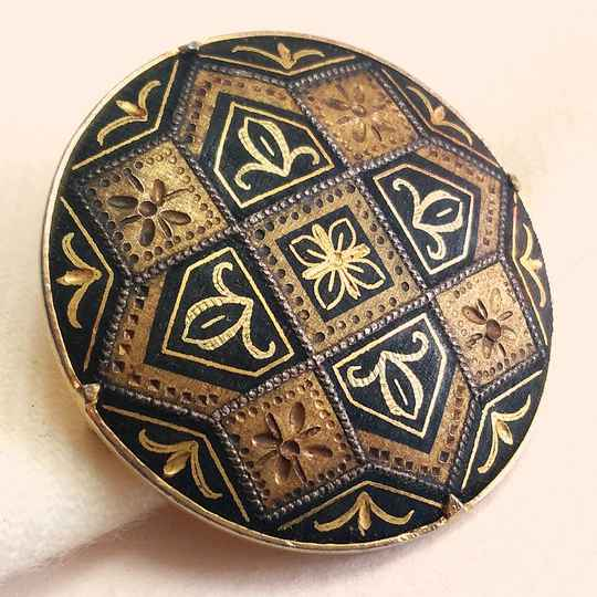Damascener Toledo broche 60s