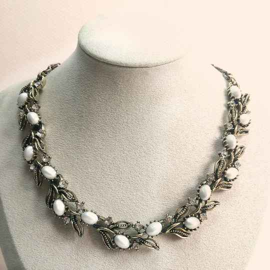 Lisner florale strass ketting 60s