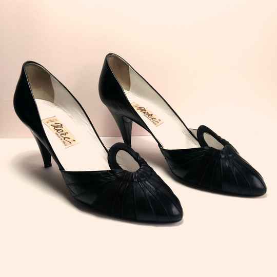 Zwarte pin up pumps 80s