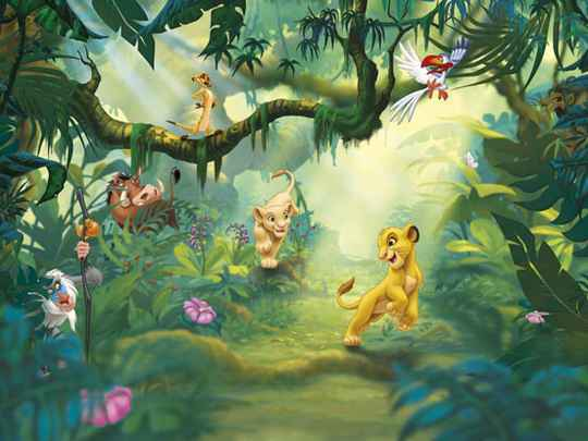 Disney Fotobehang Lion King Jungle - 368 x 254 cm