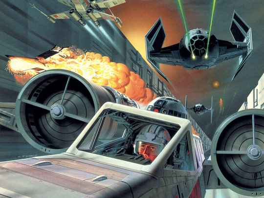 Fotobehang Star Wars Classic Death Star Trench Run - 200 x 280 cm