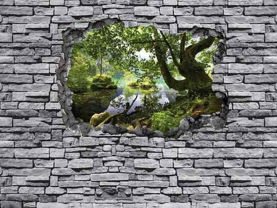 3D Fotobehang Hole in the Wall