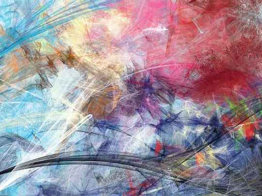 Fotobehang Sketched Colourful Abstraction