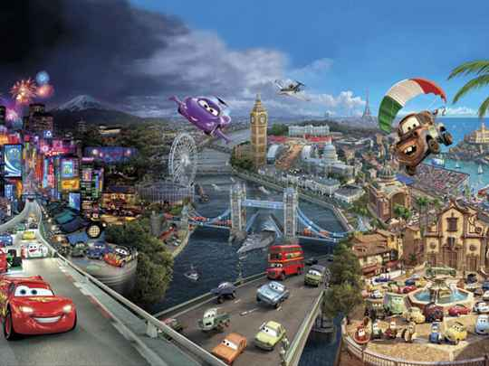 Disney Fotobehang Cars World - 368 x 254 cm
