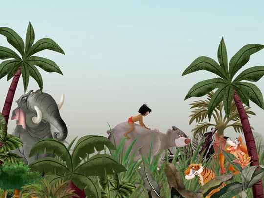 Disney Fotobehang Jungle Book - 300 x 280 cm