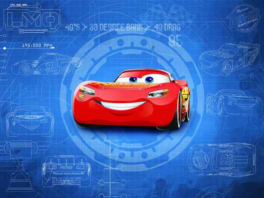 Disney Fotobehang Cars Blueprint - 368 x 254 cm