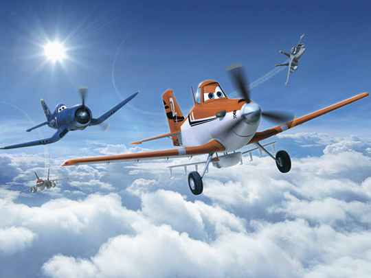 Disney Fotobehang Planes Above the Clouds - 368 x 254 cm