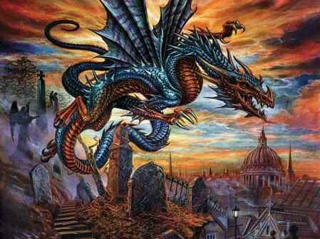 Fotobehang The Highgate Horror Dragon - 184 x 254 cm