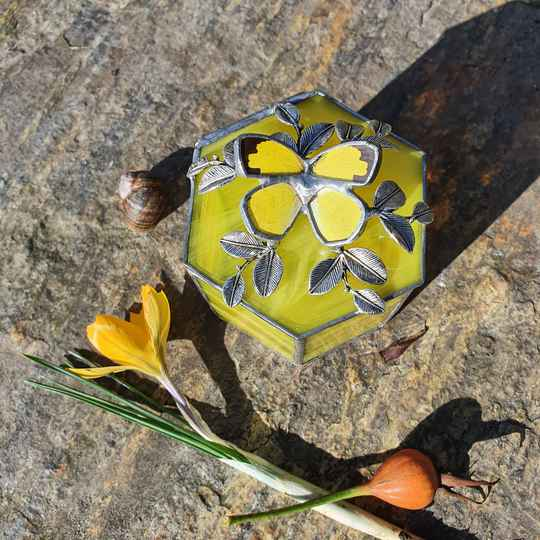 Jewelry box hexagon - Yellow Hecabe