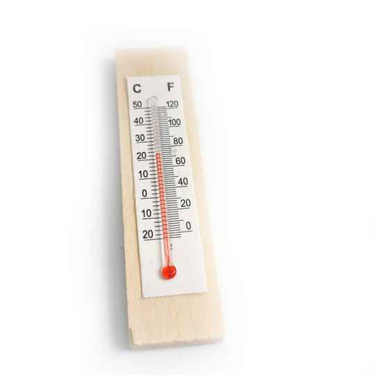 Thermometer hout 8x2 cm