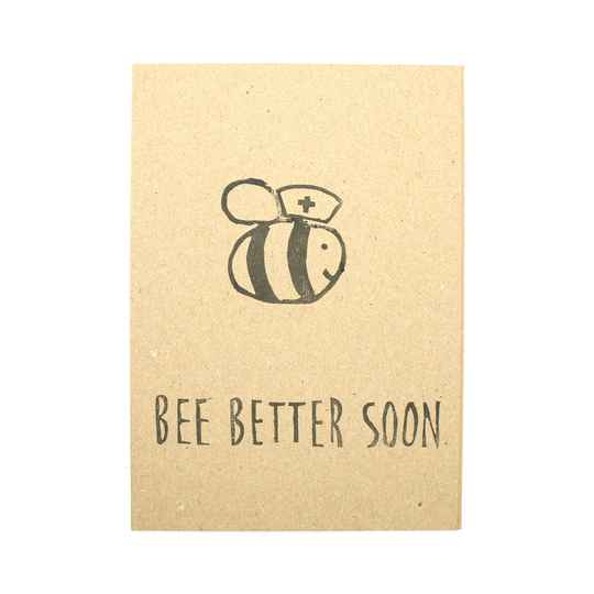 "Kaartje ""Bee better soon"""