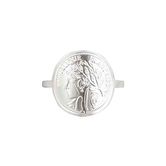 ring RVS zilver french style