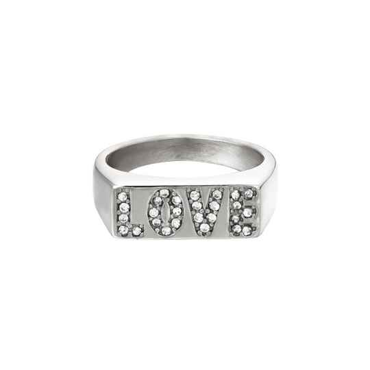 Ring love letters zilver