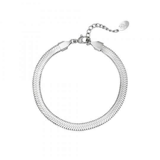 Armband flat chain zilver