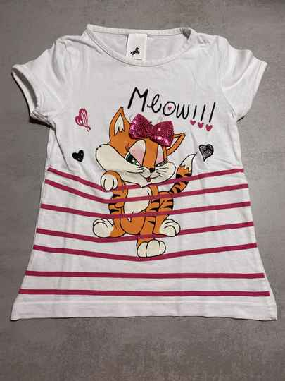 C&A wit shirt poes maat 104