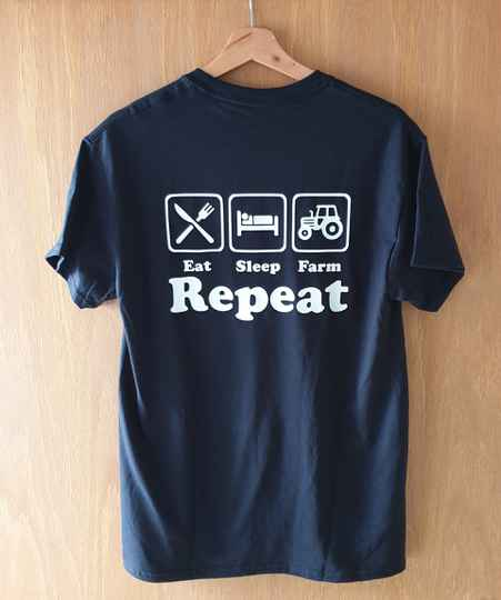 T-shirt - Eat, Sleep, Farm, Repeat