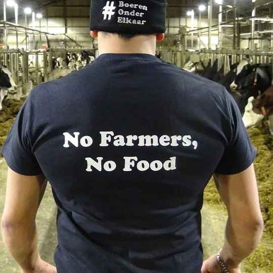 T-shirt - No Farmers, No Food