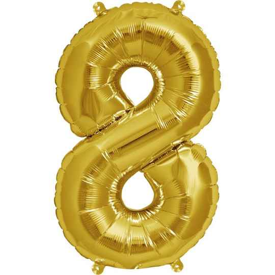 Number 8 foil balloon